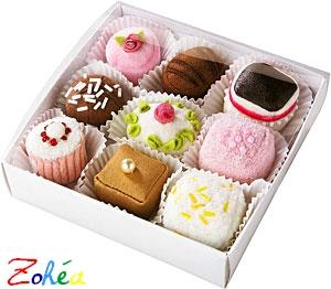 Boîte de 9 petits fours tissu de Haba