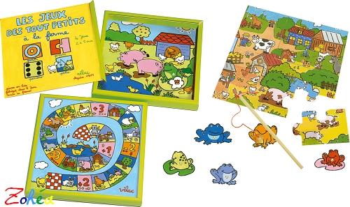Vilac coffret de 4 jeux Drôles de petites bêtes