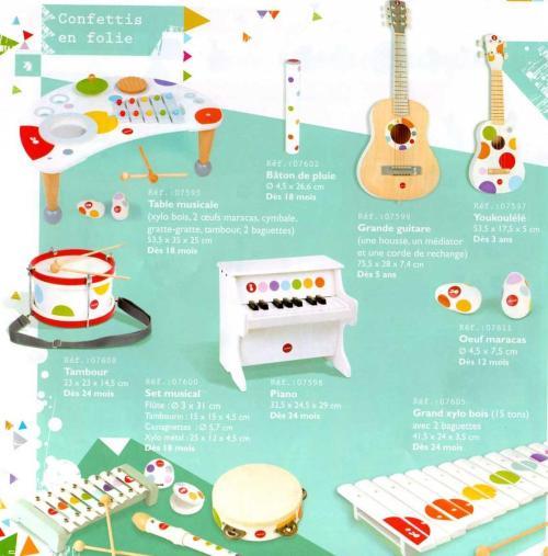 Les jouets musicaux